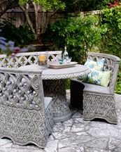 I M A Fan Of Upcycling Outdoor Furniture For Indoor Use