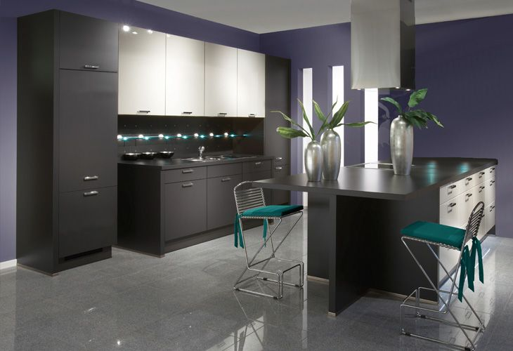 Wohnfarben Küche In Anthrazit / #kitchen In Dark Gray | Living Room