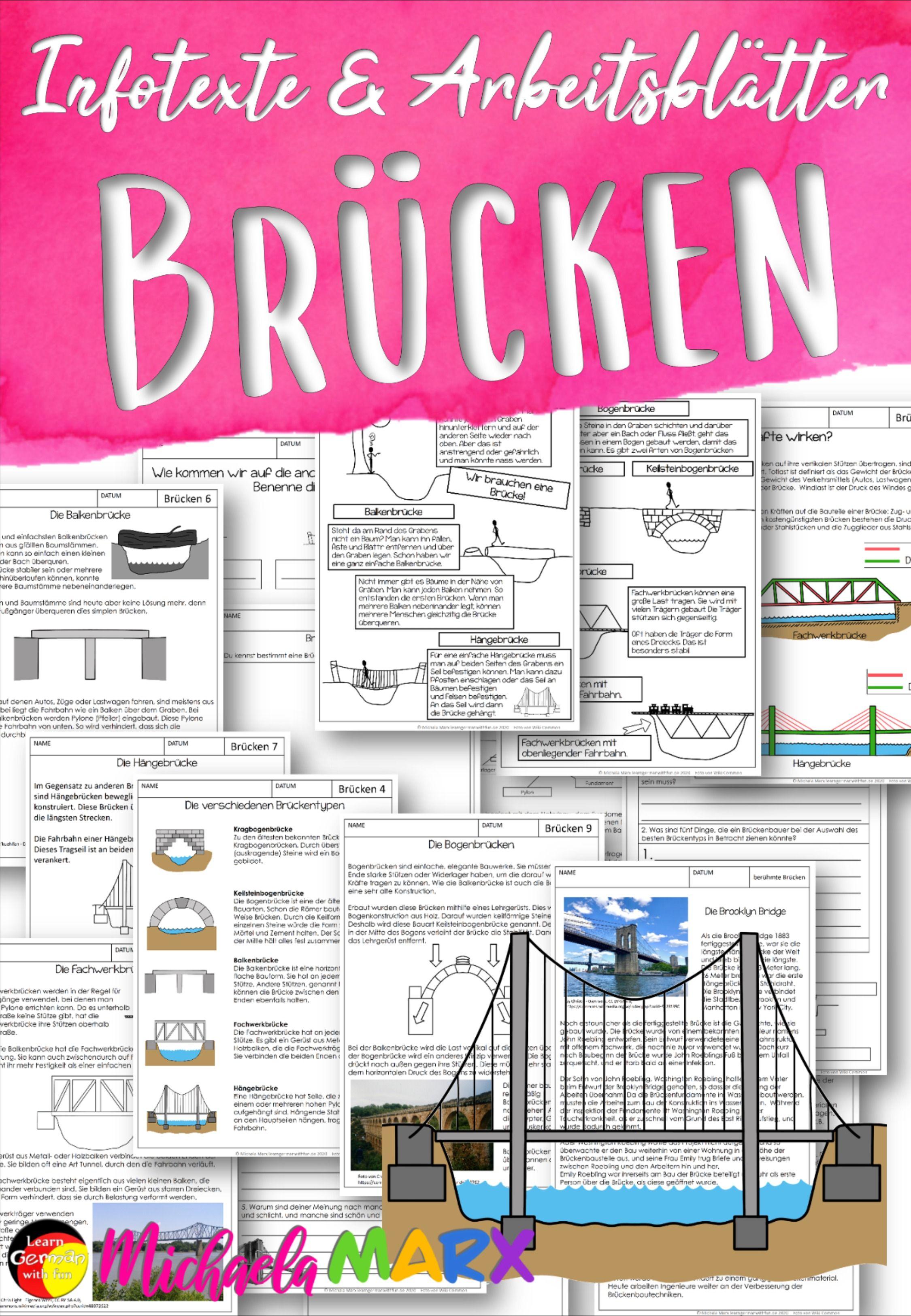 Materialsammlung Brücken Unterrichtsmaterial – Unterrichtsmaterial ...
