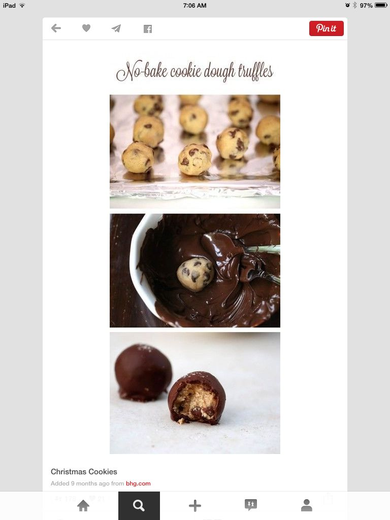 Found this on Pinterest... Cookie Dough Truffles!!!!