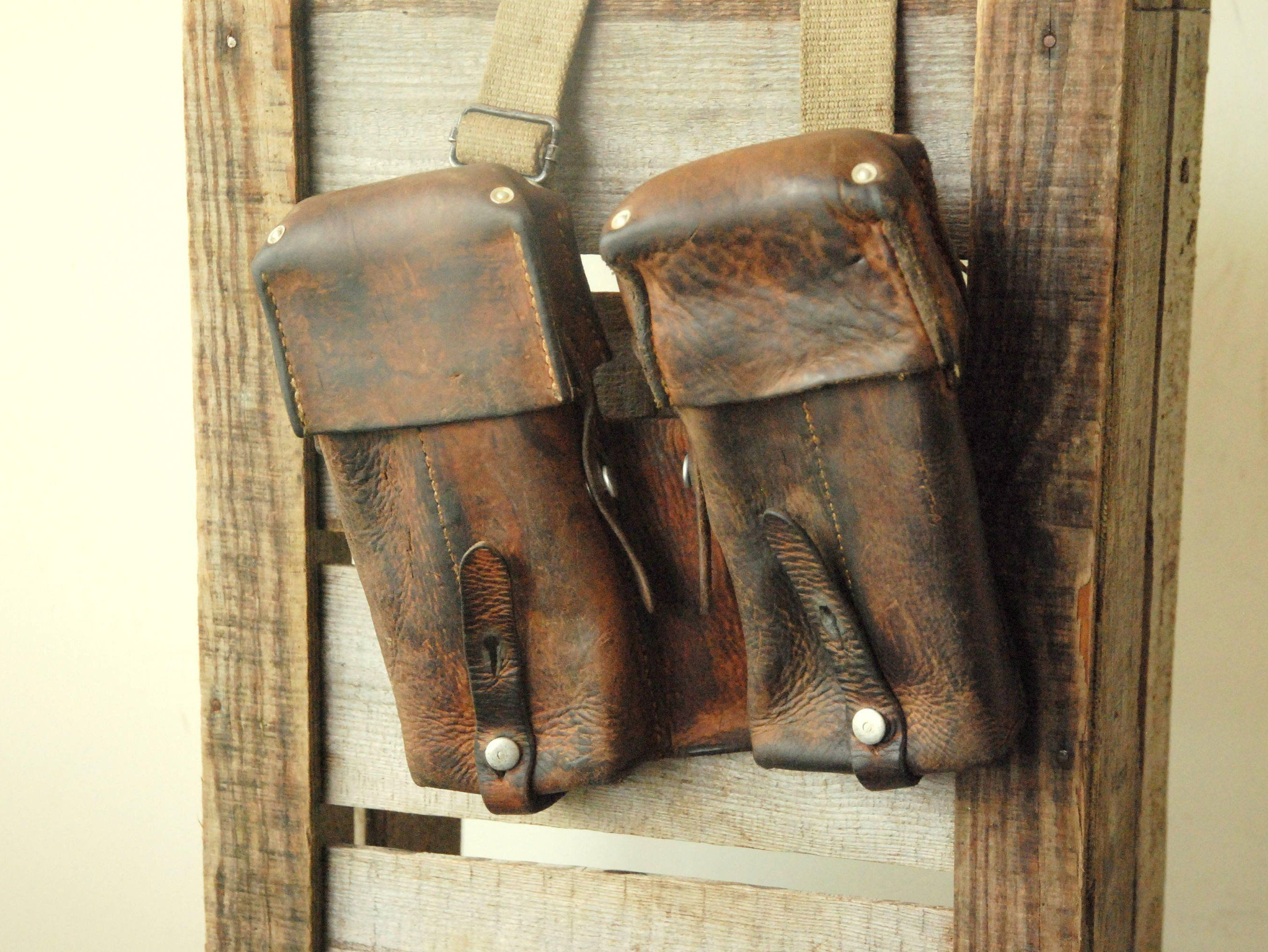 Ammunition Case of the Swiss Military larp steampunk Made of Sturdy Leather Vintage Swiss Army Ammo Bag