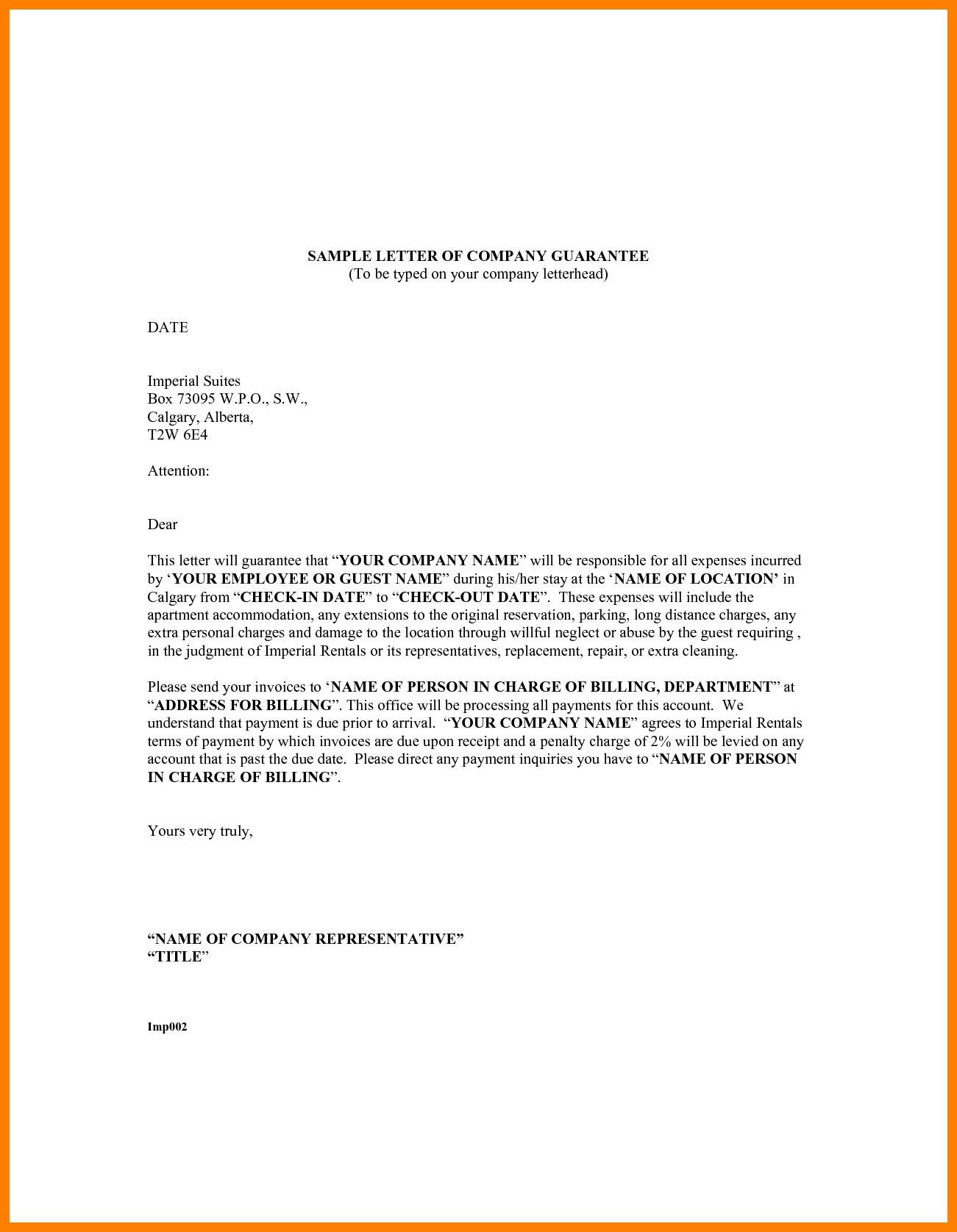 Guarantee Letter Template Managementoncall For Letter Of Guarantee Template 10 Professional Templates Ideas Letter Template Lettering Professional Templates