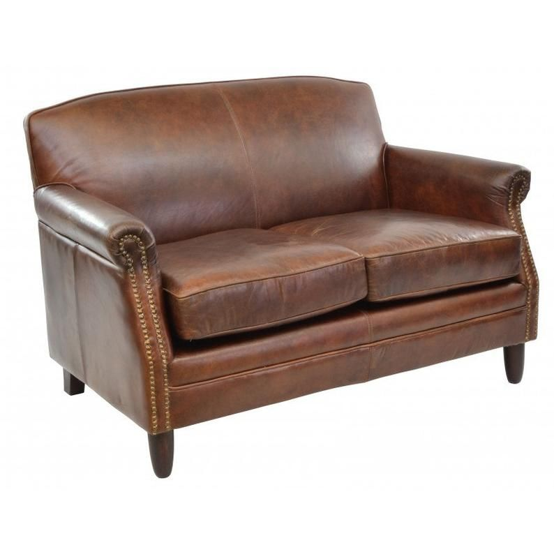 Vintage Leather 2 Seater Sofa Etsy Love Seat Leather Loveseat Furniture