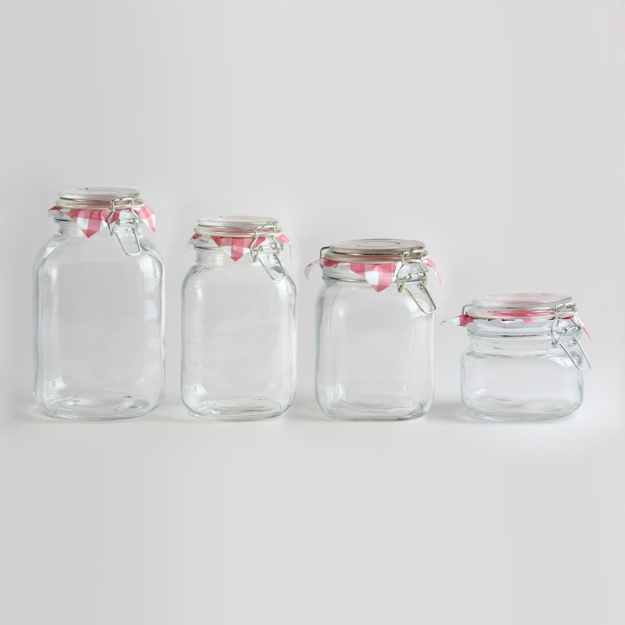 Glass kitchen utensils - Round Glass Jars With Clamp Lids Kitchen Utensilskitchen
