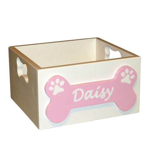 This Adorable Personalized Dog Toy Box Is Perfect For Storing All