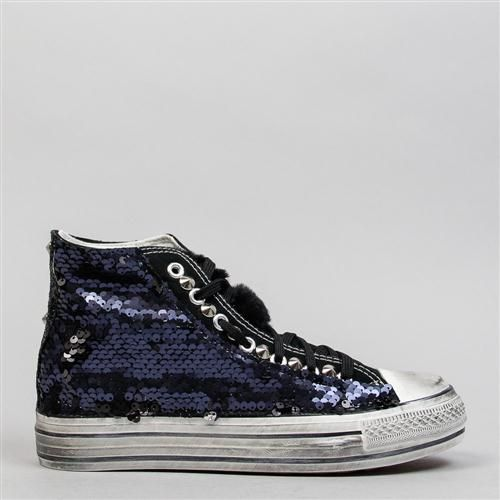 sequined high shoes