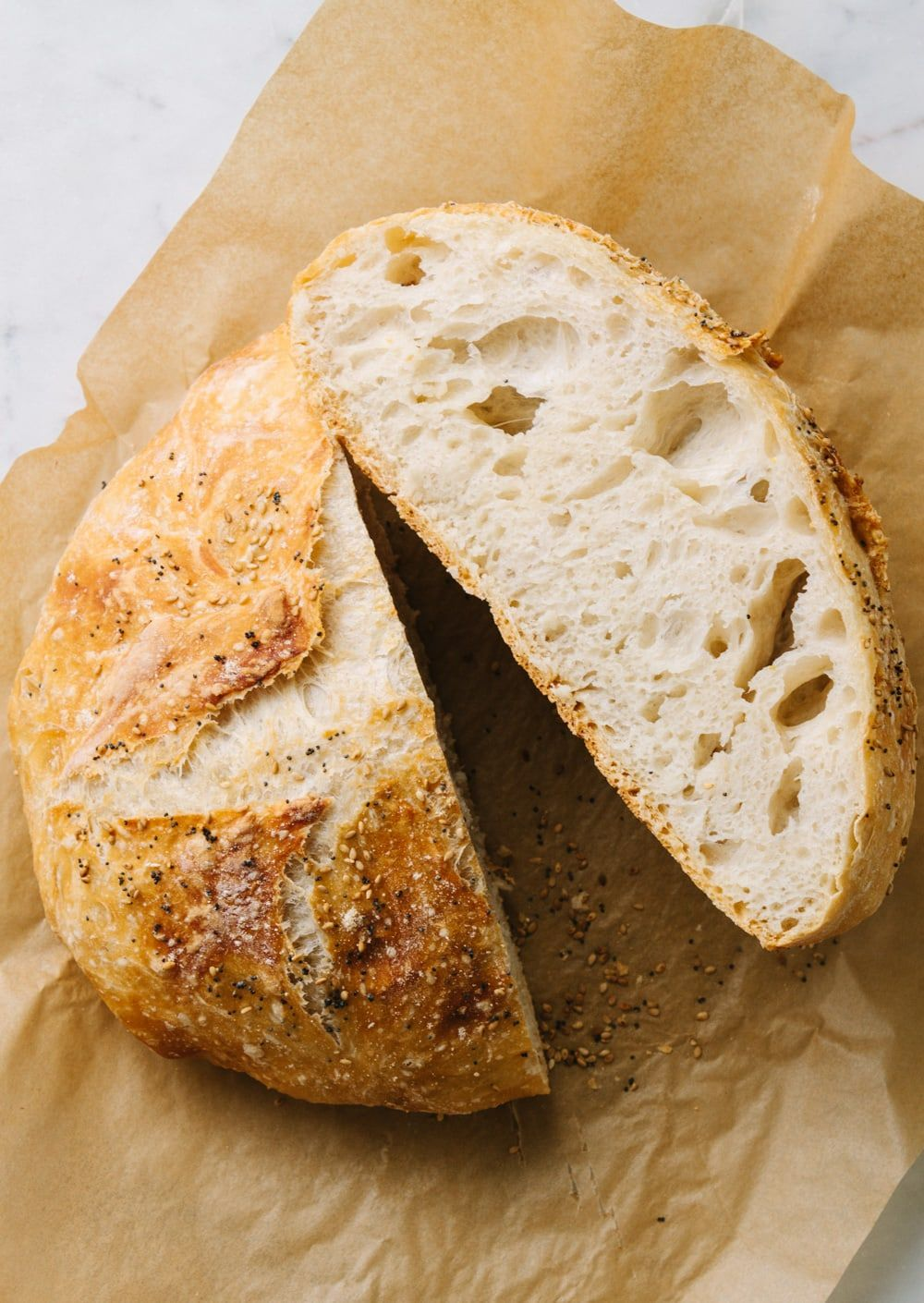 No kneading required for this easy, 4 ingredient No Knead ...