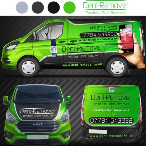 Color Scheme Grey Green Kawasaki Green Silver Vehicle Wrap Van