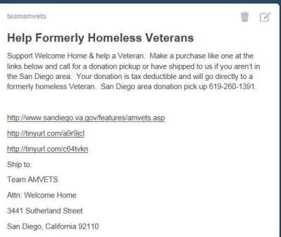 Your Help Is Needed For Formerly Homless Veterans  Team Amvets
