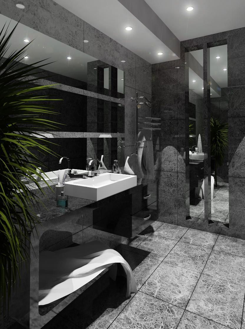 Awesome Revit rendered bathroom | interior design things ...