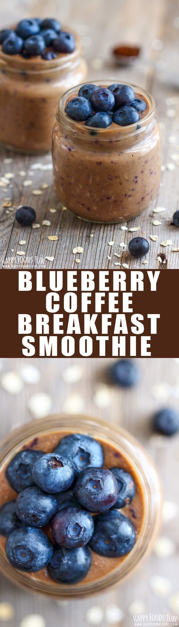 Blueberry Coffee Breakfast Smoothie #dairyfreesmoothie