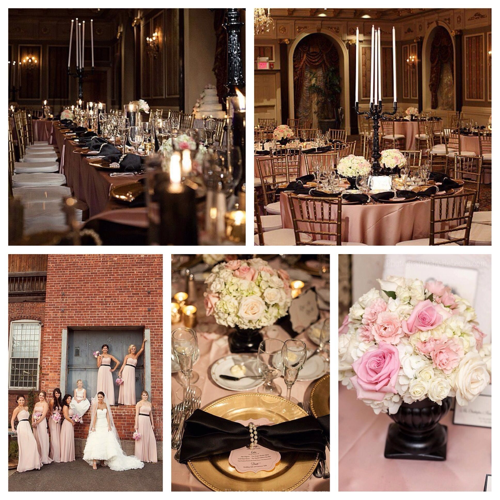 Blush And Gold Wedding Decor: Blush Pink And Black Wedding