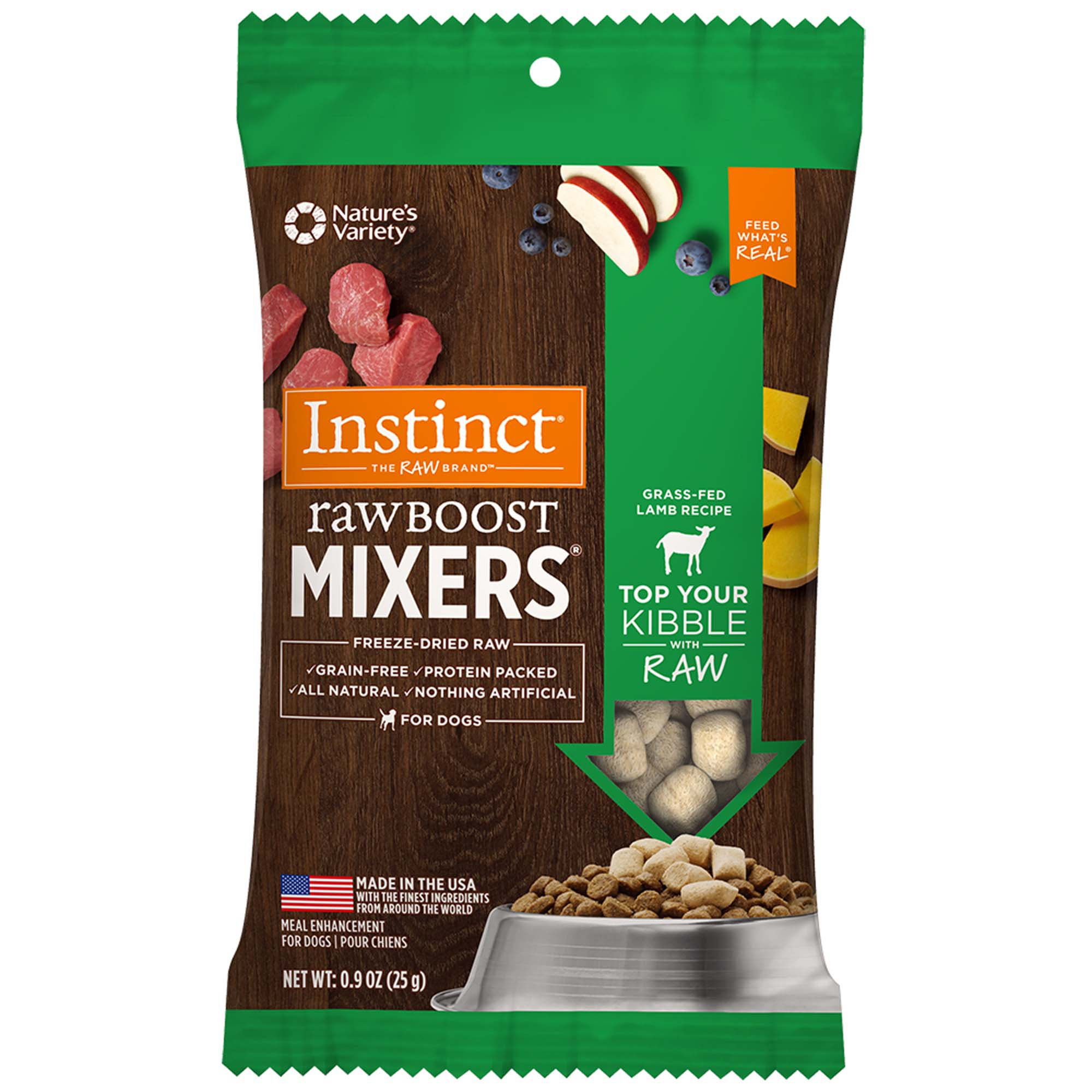 Instinct Freeze Dried Raw Boost Mixers Grain Free Lamb All