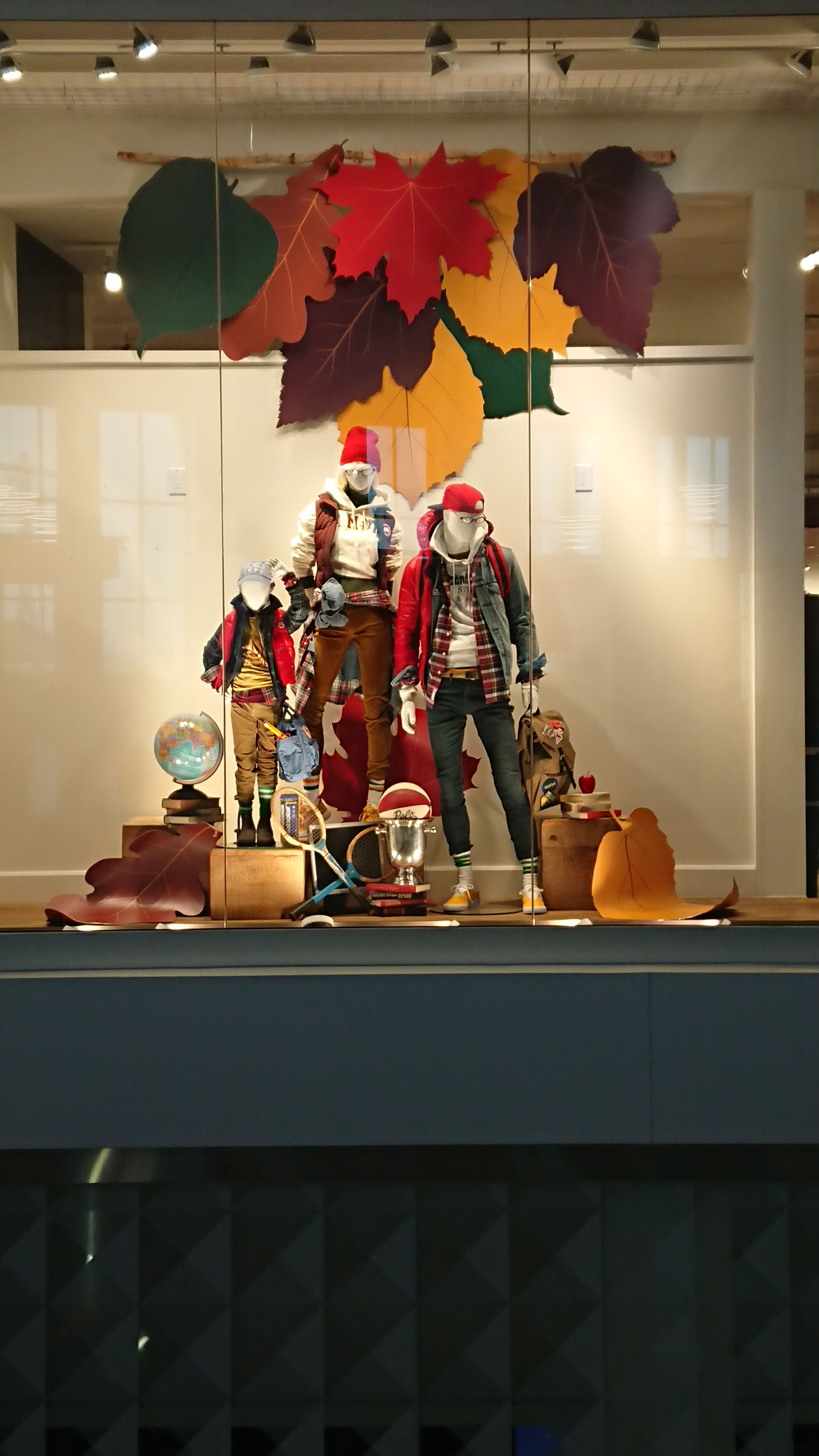 Back to school retail display window for Sporting Life