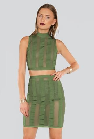 499512bab25b Olive Mesh Set Dress - inexpensive online boutique for women ...