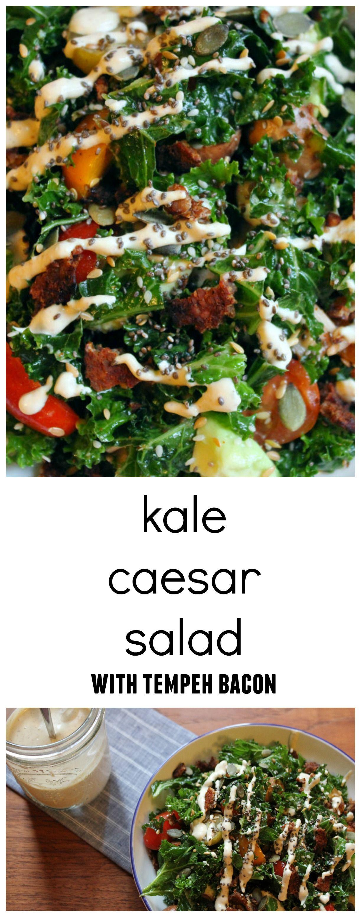 Guest post kale caesar salad kale caesar salad tempeh