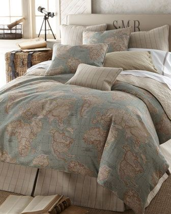 World map bed sheets home ideas world map bedding set by horchow what i really want for my room http www neimanmarcus p gumiabroncs Gallery
