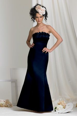 The Maid Of Honor Dress In Navy A Little Closer To Royal Blue That It Was Ordered