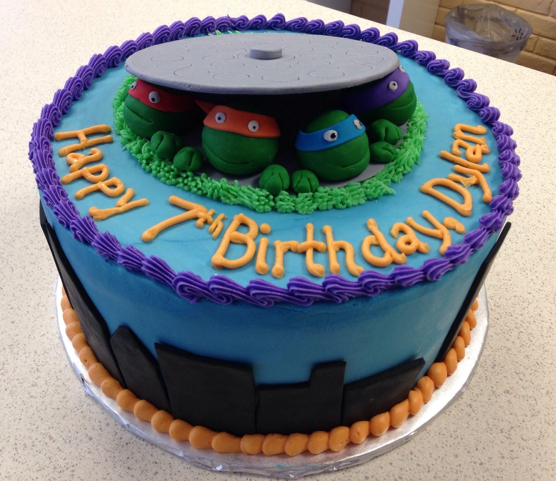 Pin By Brianna Cross On Our Cakes Ninja Turtle Birthday Cake Tmnt Cake Cake