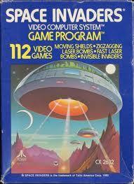 My first games for Atari VCS 2600. Non chiedetemi il perché della copertina che con il gioco non ha senso, ma era la moda degli anni 80. Quante ore  a fermare le orde di alieni.