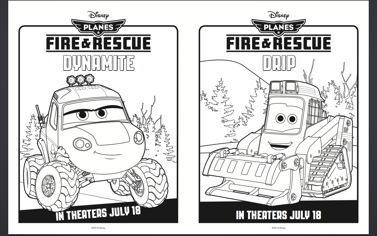 Free Disney Planes Fire And Rescue Coloring Pages Activity Sheets