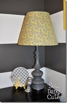 How to recover a lamp shade