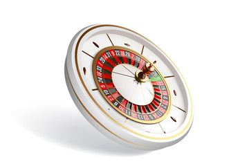 Vector luxury casino roulette wheel isolated on white ...