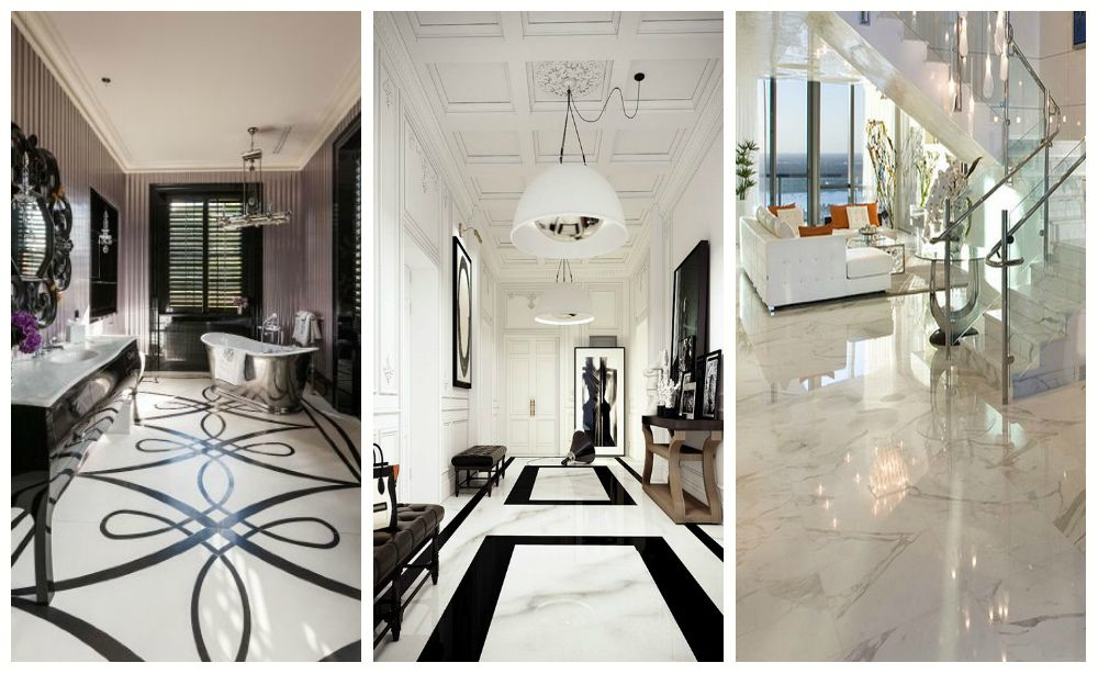 Amazing white marble floors in the interior #marble #floor #design ...