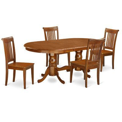 Darby Home Co Germantown 5 Piece Dining Set Chair Upholstery: Non  Upholstered Wood