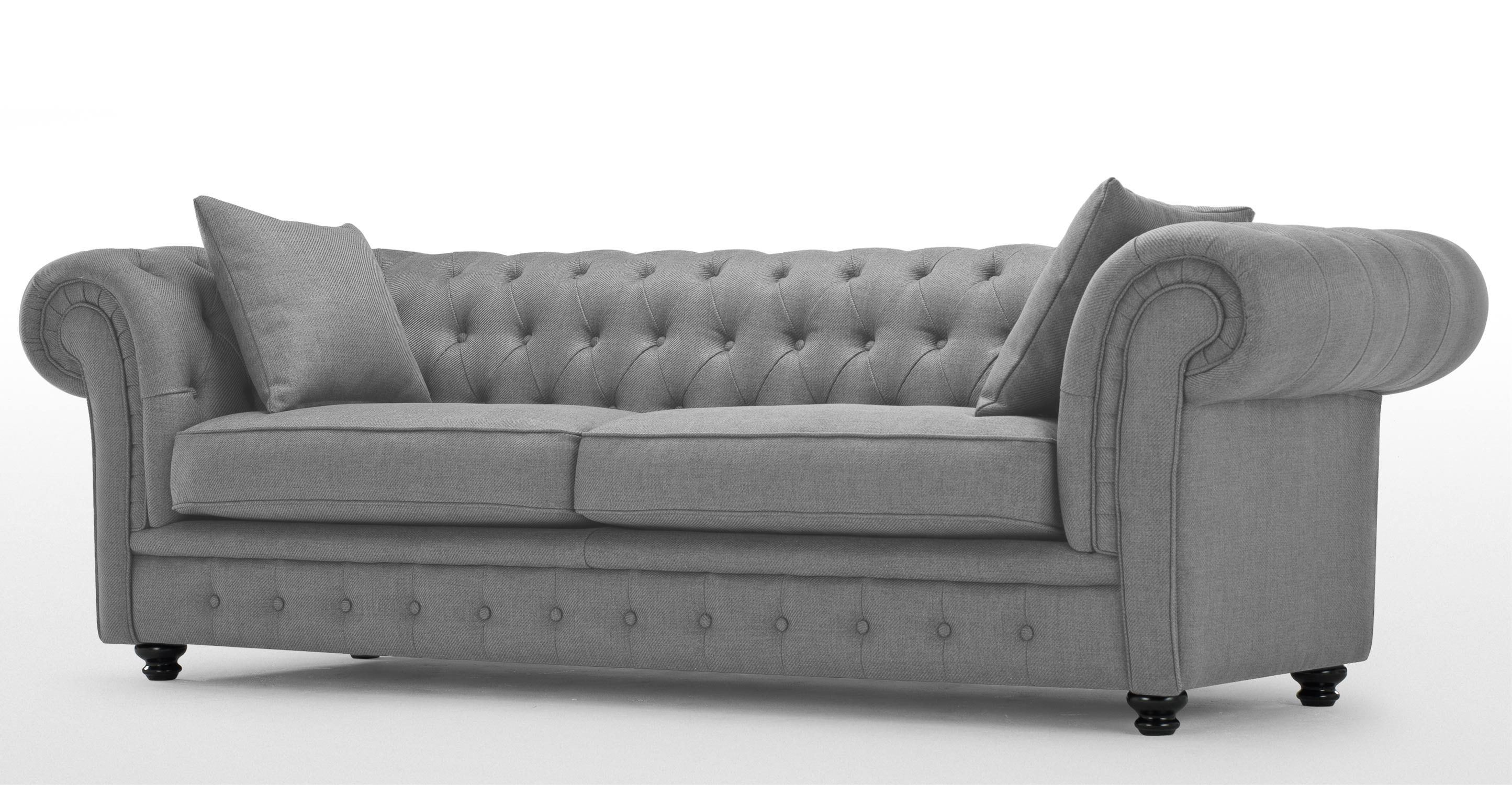Mayson Chesterfield 3 Seater Sofa In Harrier Grey Made 799 Living Room Pinterest Rooms And Drawing