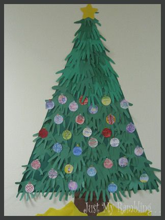 Huge Handprint Christmas Tree Handprint Christmas Tree Handprint Christmas Christmas Classroom