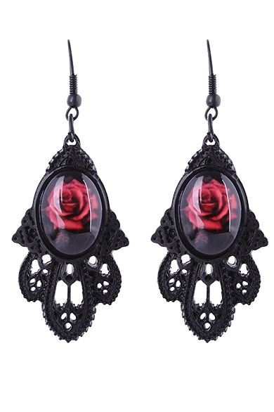 Restyle Ohrringe Gothic Lolita Dornröschen Barock Victorian Wild Rose Earrings