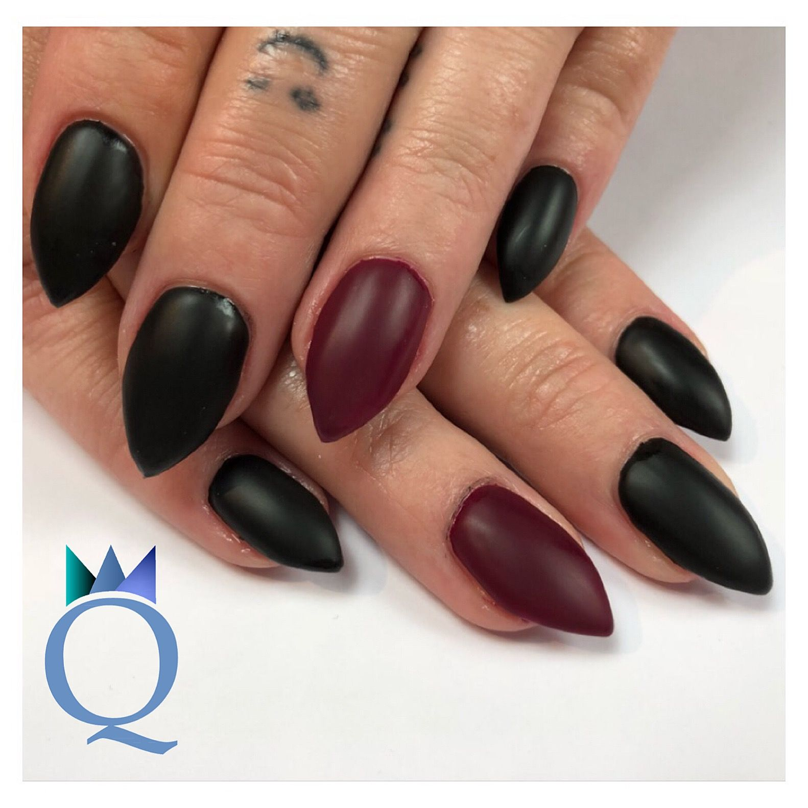 stilettonails gelnails nails black darkred matte stiletton gel geln gel n gel schwarz. Black Bedroom Furniture Sets. Home Design Ideas