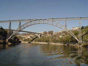 Maria Pia Bridge Wikipedia The Free Encyclopedia Viajes Vietnamitas Gustave Eiffel Canal De Panama