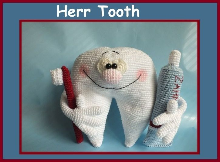 """Häkelanleitung """"Herr Tooth, Zahn"""",PDF, Amigurumi von Babsie´s Hook auf DaWanda.com"""
