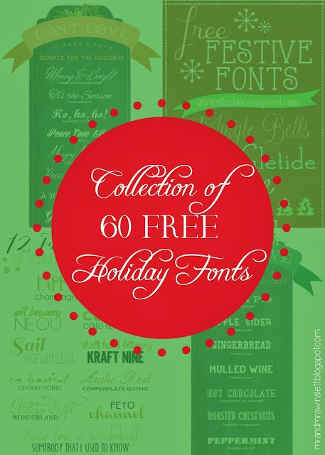 60 FREE Holiday Fonts - collected and curated by an invitation - free invitation layouts