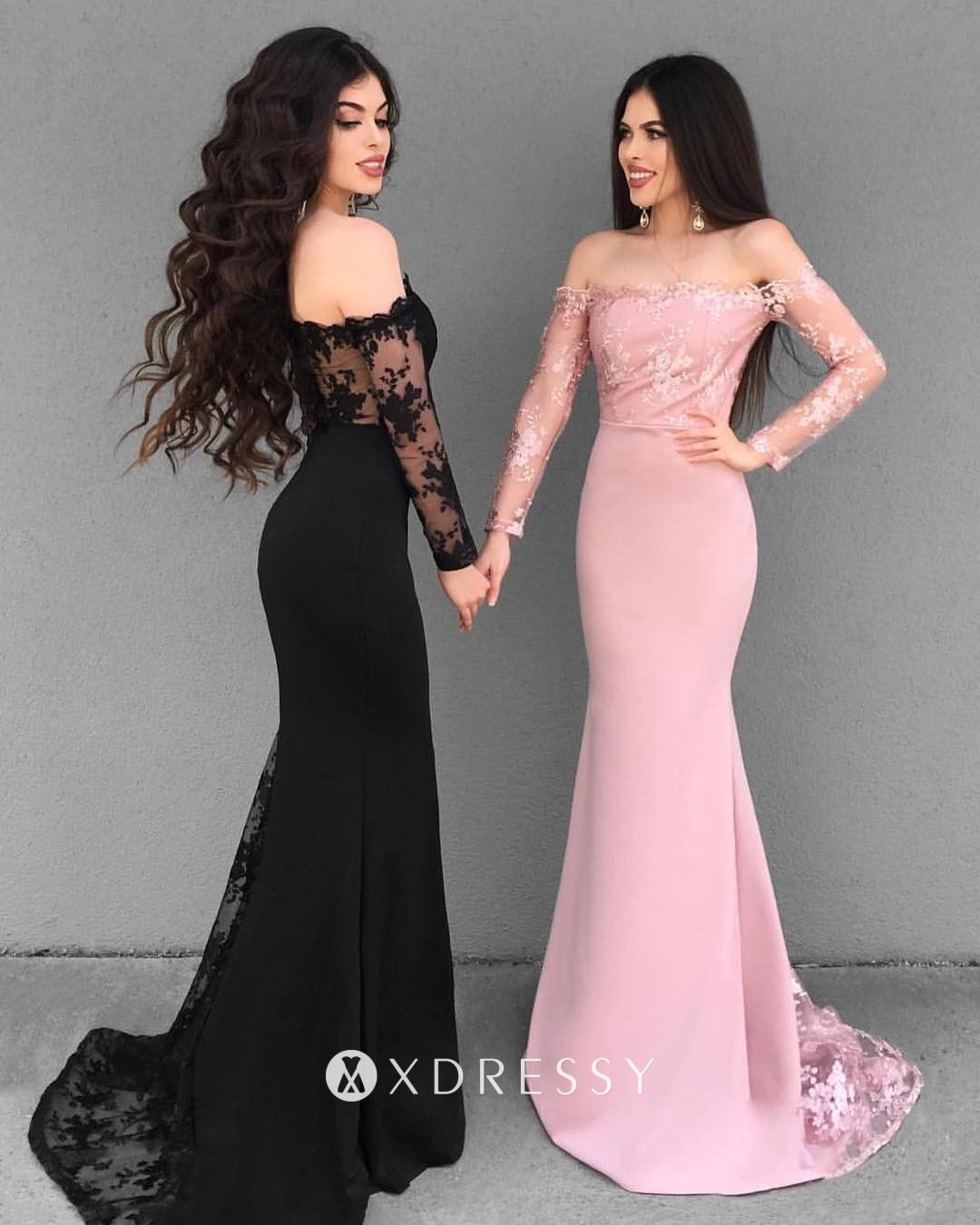 Illusion Lace Off Shoulder Long Sleeve Prom Dress In 2020 Long Sleeve Dress Formal Prom Dresses Long With Sleeves Prom Dresses With Sleeves