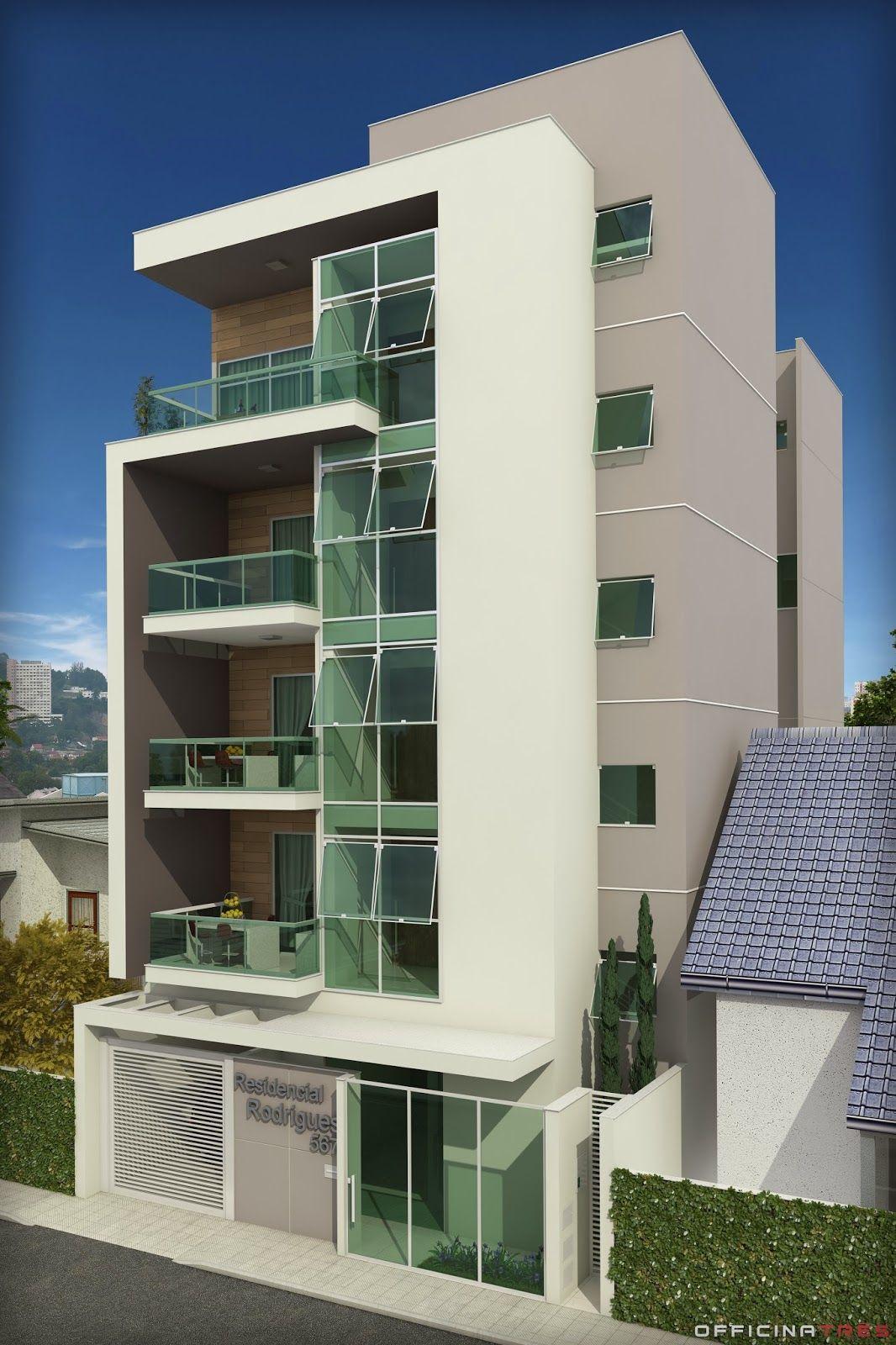 Pin de jorge paternina ramos en fachada minimal for Fachadas de apartamentos modernos