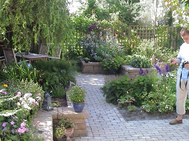 Terras in kleine tuin google zoeken garden pinterest terras bloembakken en zoeken - Tuinmodellen met rollen ...