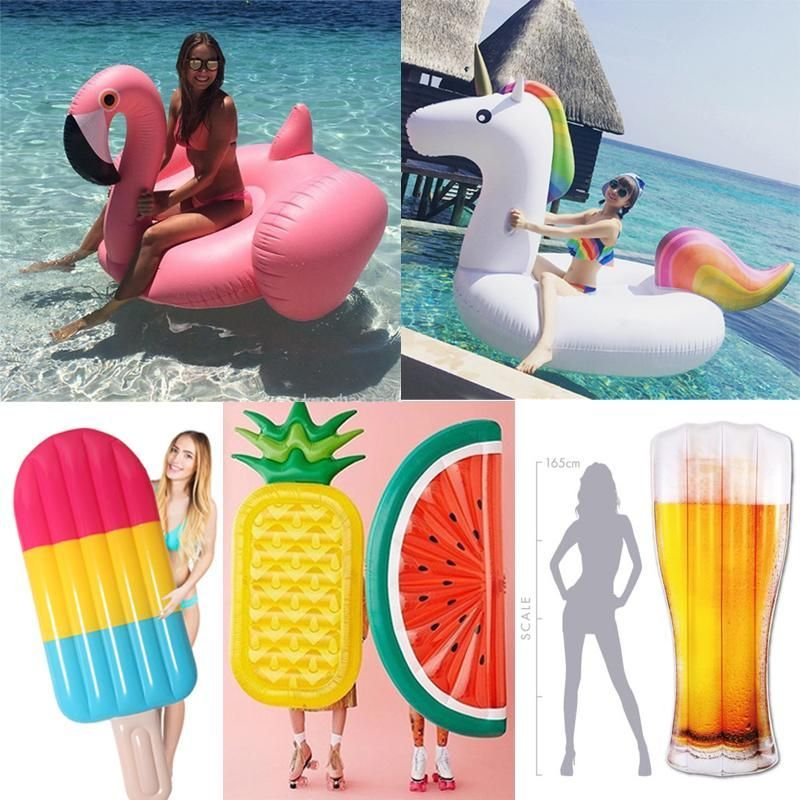 22 Style Giant Swan Watermelon Floats Pineapple Flamingo Swimming