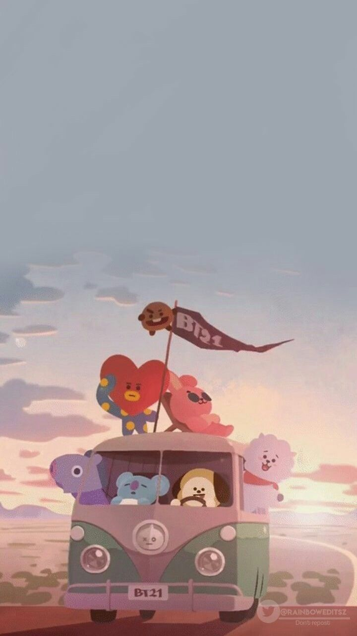 • 방탄소년단 캐릭터  BTS 배경화면/잠금화면 모음!