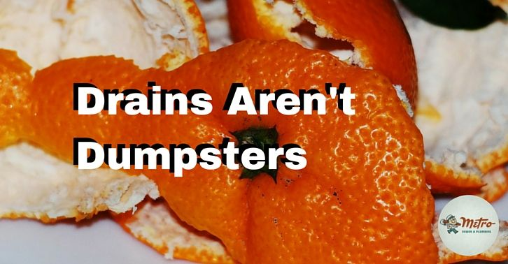 Drains Are Not Dumpsters Dumpsters Drains Air Heating