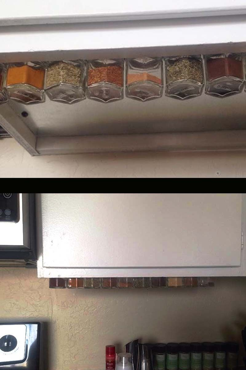 Under Cabinet Diy Spice Rack Customer Mounted A Steel