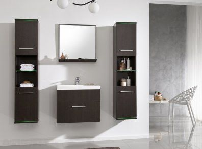 Bathroom Furniture Set Duo Wenge Mat With Basin Bathroom