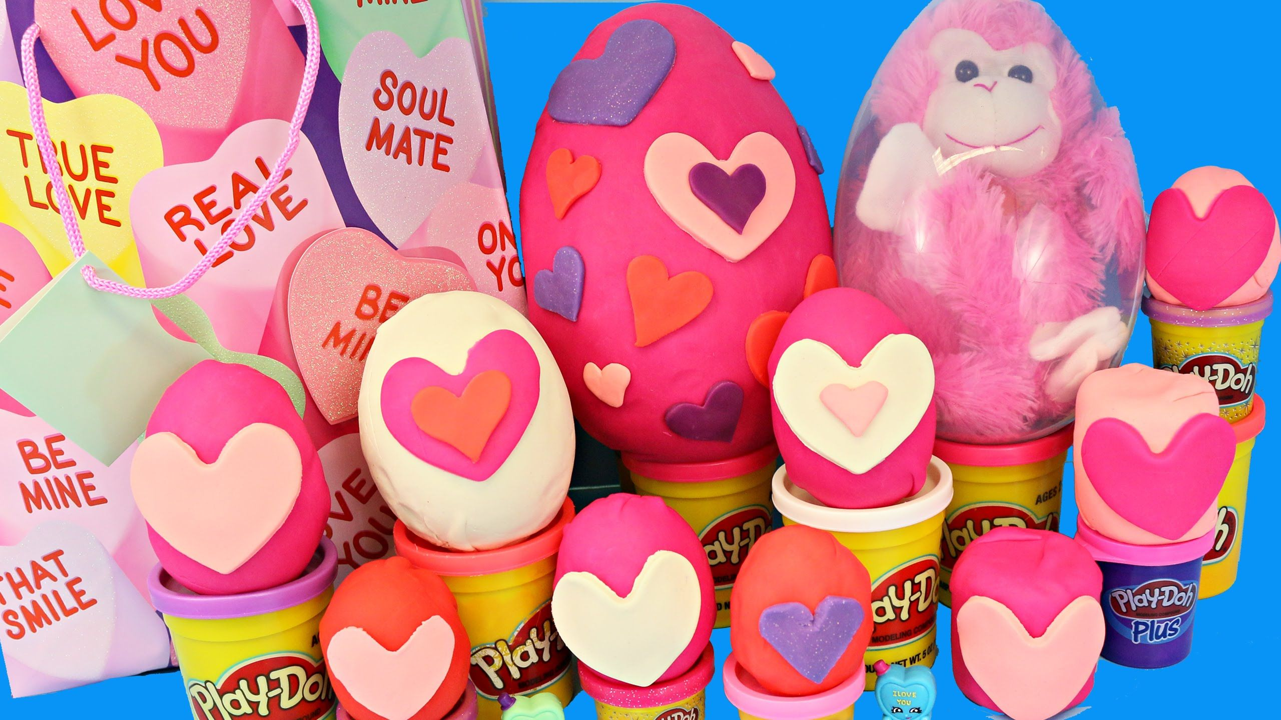 GIANT SURPRISE PLAY DOH EGG Valentines Day Surprise Toys U0026 Blind Bag Fro.