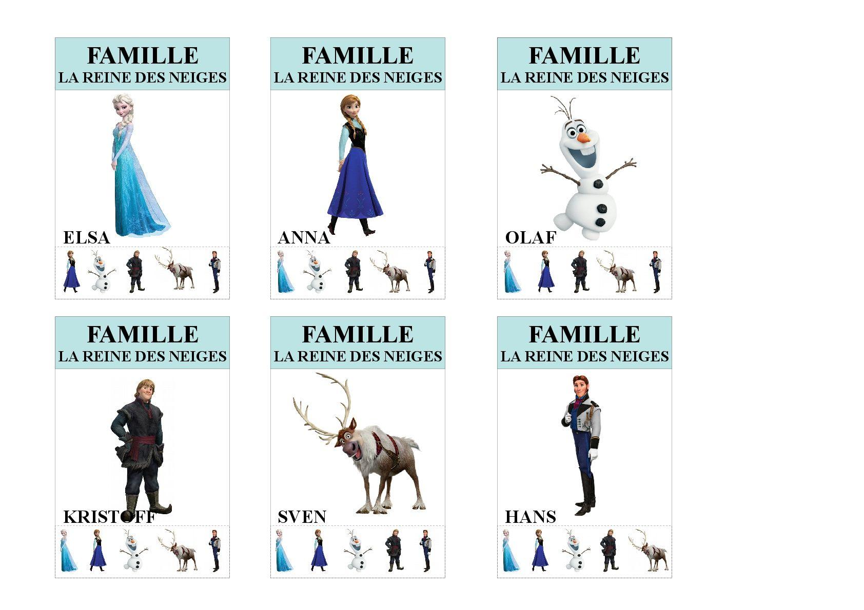Famille La Reine Des Neiges Jeu Des 7 Familles Utilisable Pour Les Plus Jeunes Vu Que Tous Les Membre Jeux Des 7 Familles Jeux Reine Des Neiges Jeux A Imprimer