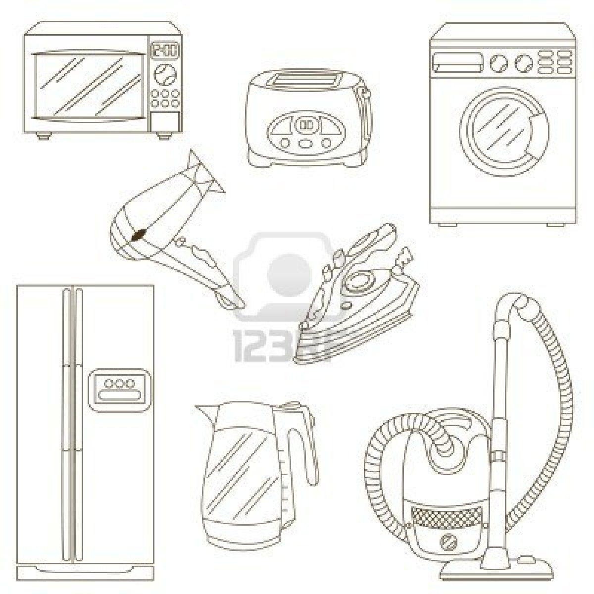 Dibujo Electrodomesticos Buscar Con Google Dibujos