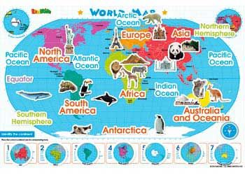 Magnetic wall sticker world map maps globes atlases globes world map magnetic wall sticker geography inspires exploring interactive gumiabroncs Choice Image