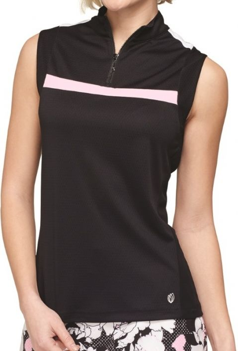 3f245acc Check out what #lorisgolfshoppe has for your days on and off the golf  course: Black / Dahlia GGblue Ladies Sara Sleeveless Golf Shirt