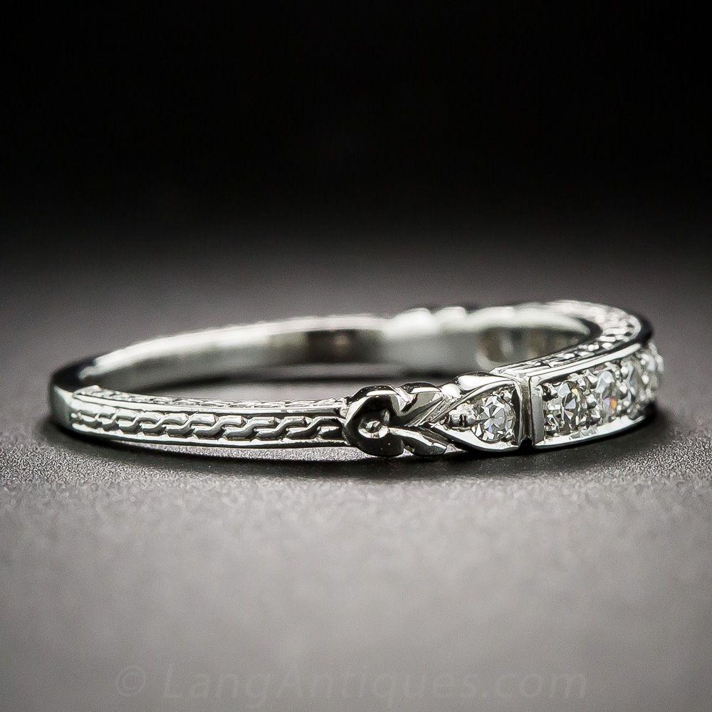 Art Deco Style Diamond Wedding Band 11016107 Lang